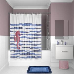 Фото - Штора для ванной IDDIS Promo 180x180, бело-синий (P11PV11i11) шторка для ванной tatkraft seagull цвет белый синий 180 см х 180 см