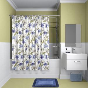Штора для ванной IDDIS Promo 180x180, бело-голубая (P05P118i11) декоративная наволочка asabella d3 2 бело голубая