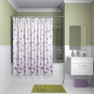 Штора для ванной IDDIS Basic 180x180, розовая (B01P118i11) штора для ванной 180 180 см пэт однотонный 10 40