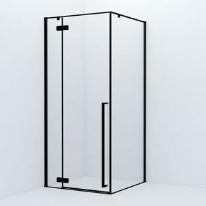 Душевой уголок IDDIS Slide 205x93 стекло прозрачное, профиль черный (SLI6BS0i23) фото