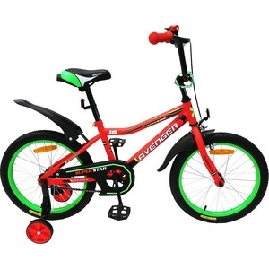 Велосипед AVENGER 14 SUPER STAR, красный/черный