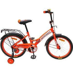 Велосипед AVENGER 16 NEW STAR, оранжевый/черный велосипед аист quest disk 26 рама 16 графит оранжевый