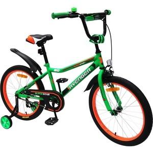 Велосипед AVENGER 18 SUPER STAR, зеленый/черный