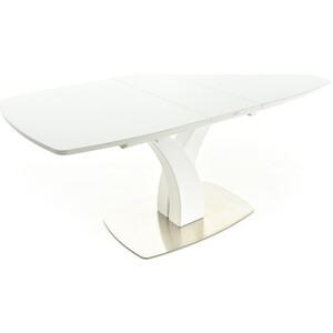 Стол Аврора Нотр-Дам белый/стекло белое жилет утепленный аврора аврора mp002xg00hl4