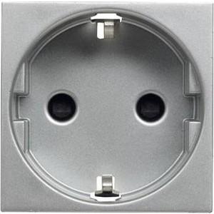 Розетка ABB Zenit с/з 16A 250V со шторками винтовой зажим серебро розетка эра эксперт 2p e schuko со шторками 16a 250v al cu 11а 2204 01