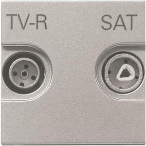 Розетка ABB TV-R-SAT Zenit серебро