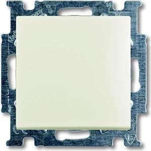 Выключатель ABB кнопочный одноклавишный Basic55 10A 250V chalet - белый выключатель одноклавишный кнопочный legrand quteo 6a 250v белый 782205