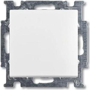 Выключатель ABB кнопочный одноклавишный Basic55 10A 250V альпийский белый выключатель одноклавишный кнопочный legrand quteo 6a 250v белый 782205