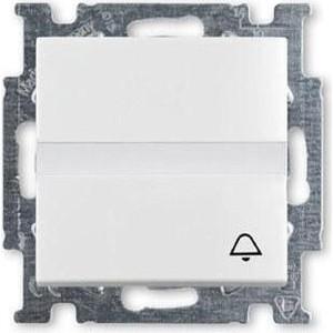 Выключатель ABB кнопочный одноклавишный Basic55 10A 250V Звонок альпийский белый выключатель одноклавишный legrand etika 10a 250v антрацит 672601