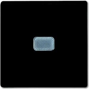 Выключатель ABB одноклавишный Basic55 10A 250V с подсветкой chateau - черный выключатель одноклавишный legrand etika 10a 250v антрацит 672601