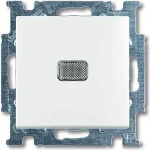 Выключатель ABB одноклавишный Basic55 10A 250V с подсветкой альпийский белый выключатель одноклавишный legrand etika 10a 250v антрацит 672601
