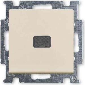 Выключатель ABB одноклавишный Basic55 10A 250V с подсветкой слоновая кость выключатель одноклавишный legrand etika 10a 250v антрацит 672601