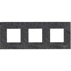 Рамка ABB 3-постовая Zenit сланец