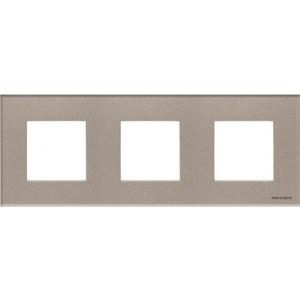 Рамка ABB 3-постовая Zenit стекло брызги шампанского