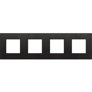 Рамка ABB 4-постовая Zenit антрацит