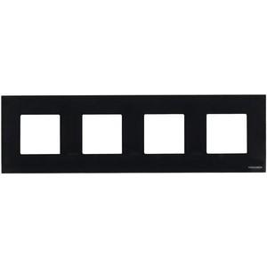 Рамка ABB 4-постовая Zenit стекло черное akpo wk 4 kastos eco 50 черное стекло