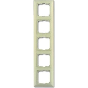 Рамка ABB 5-постовая Basic55 слоновая кость