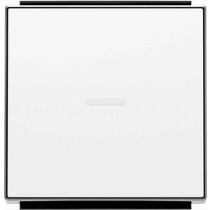 Лицевая панель ABB Sky выключателя одноклавишного с подсветкой альпийский белый