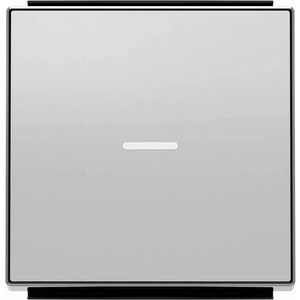 Лицевая панель ABB Sky выключателя одноклавишного с подсветкой серебристый алюминий