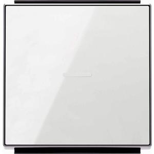 Лицевая панель ABB Sky выключателя одноклавишного с подсветкой стекло белое