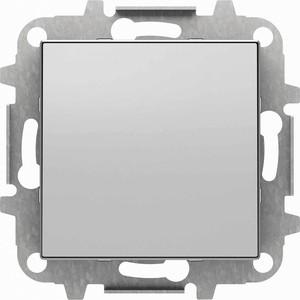 Лицевая панель ABB Sky заглушка серебристый алюминий