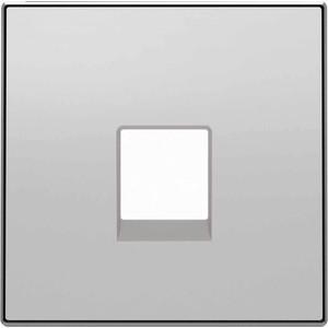 Лицевая панель ABB Sky розетки RJ12 серебристый алюминий