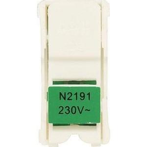 Светодиодный блок ABB 1-полюсного выключателя Zenit зеленый