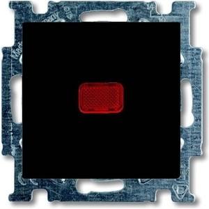 Переключатель ABB одноклавишный Basic55 10A 250V с подсветкой chateau - черный (2CKA001012A2180) переключатель одноклавишный schneider electric sedna 10a 250v sdn0400170