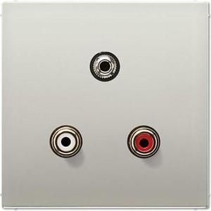 Аудио-разъем Jung RCA/Stereo Jack (TRS 3.5 mm) LS 990 edelstahl MAES1011