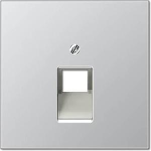 Накладка Jung 1-ой наклонной телефонной/компьютерной розетки LS 990 алюминий AL2969-1UA фото