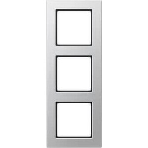 Рамка Jung 3-постовая A creation алюминий AC583AL