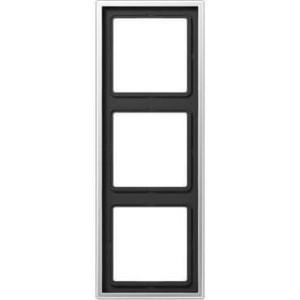 Рамка Jung 3-постовая LS 990 алюминий AL2983