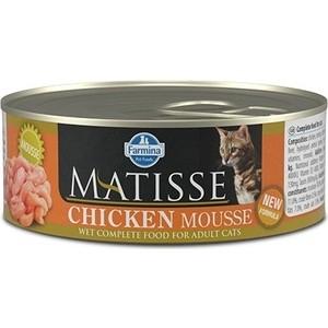 Консервы Farmina Matisse Chicken Mousse Adult Cat мусс с курицей для кошек 85г