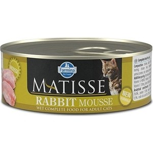 Консервы Farmina Matisse Rabbit Mousse Adult Cat мусс с кроликом для кошек 85г