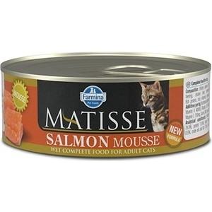 Консервы Farmina Matisse Salmon Mousse Adult Cat мусс с лососем для кошек 85г