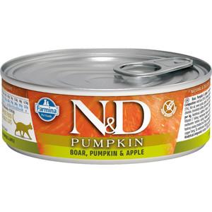 Консервы Farmina N&D Adult Cat GF Pumpkin Boar, & Apple беззерновой c мясом кабана, тыквой и яблоком для взрослых кошек 80г