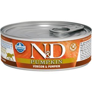 Консервы Farmina N&D Adult Dog GF Pumpkin & Venison беззерновой c олениной и тыквой для взрослых собак мелких пород 80г