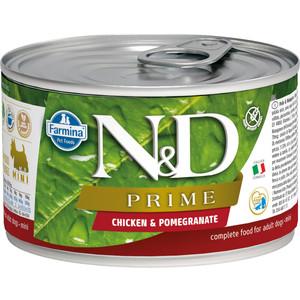 Консервы Farmina N&D Adult Dog Mini GF Chicken & Pomegranate беззерновой с курицей и гранатом для собак мелких пород 140г