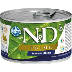 Консервы Farmina N&D Adult Dog Mini GF Lamb & Blueberry беззерновой с ягненком и черникой для собак мелких пород 140г