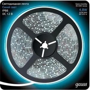 Лента Gauss светодиодная влагозащищенная 4,8W/m 60LED/m 2835SMD синий 5M 311000505 gangxun синий m