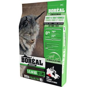 Сухой корм Boreal Original для кошек всех пород с индейкой и форелью 5,44кг