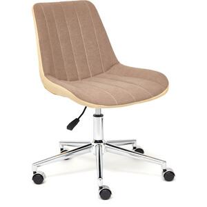 цена на Кресло TetChair Style экошерсть/кож/зам коричневый/бежевый 36-34