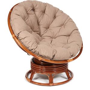 Кресло-качалка TetChair Papasan w 23/01 B с подушкой Pecan орех/экошерсть коричневый 1811-5