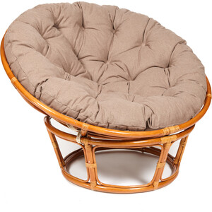 Кресло TetChair Papasan 23/01 W с подушкой Cognac коньяк/экошерсть коричневый 1811-5