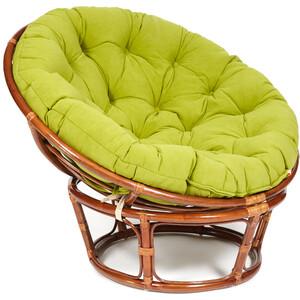 Кресло TetChair Papasan 23/01 W с подушкой Pecan орех/флок олива 23