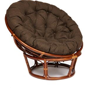 Кресло TetChair Papasan 23/01 W с подушкой Pecan орех/ткань коричневый 3М7-147
