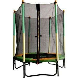 Батут DFC JUMP KIDS 55 зеленый/желтый, сетка (137см)
