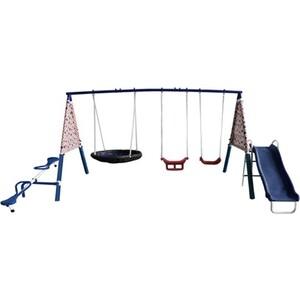 качели Детский комплекс DFC качели, качели-балансир, качели-гнездо и горка 74591