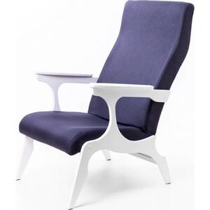 Кресло Мебелик Флоренция ткань деним/каркас белый