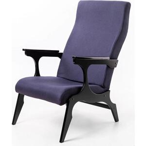 Кресло Мебелик Флоренция ткань деним/каркас венге